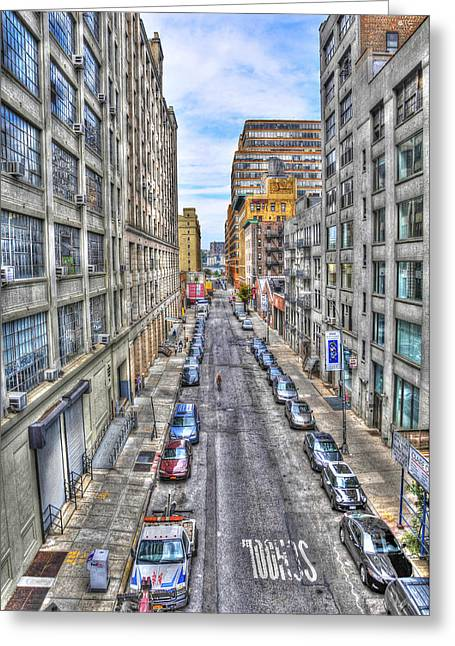 Chelsea Street From The High Line Greeting Card by Randy Aveille