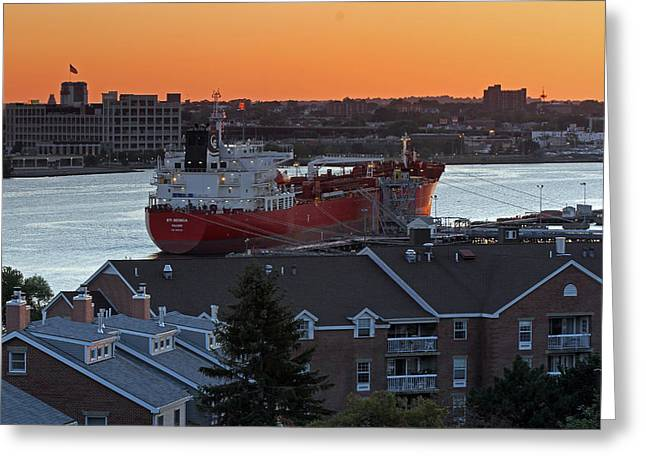 Boston Ma Greeting Cards - Chemical Tanker STI BENICIA Greeting Card by Juergen Roth
