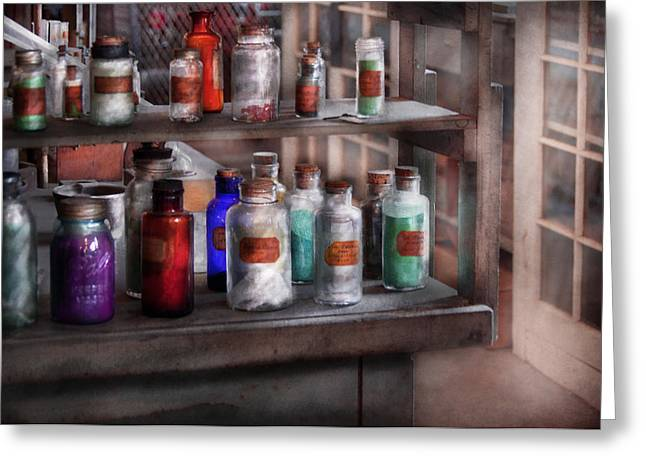 Chemistry - Ready To Experiment  Greeting Card by Mike Savad