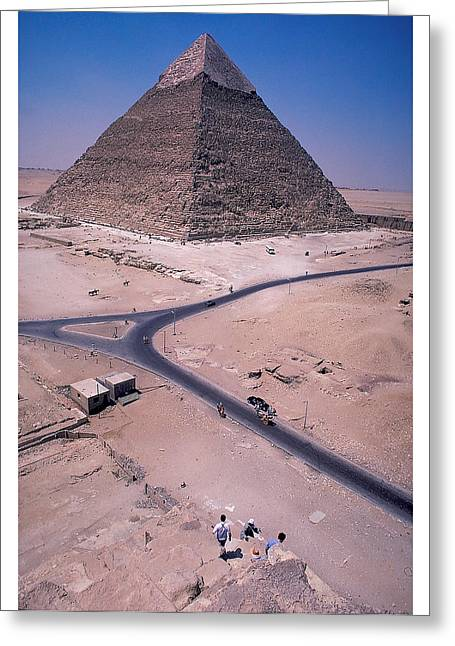 Civilization Greeting Cards - Cheops Pyramid at Giza Greeting Card by Carl Purcell