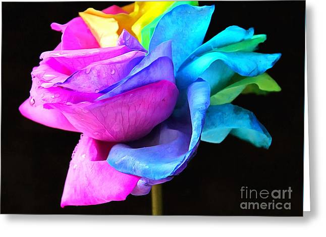 Rose Petals Mixed Media Greeting Cards - Cherish The Love Greeting Card by Krissy Katsimbras