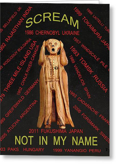 Scream World Tour Mixed Media Greeting Cards - Chernobyl Greeting Card by Eric Kempson