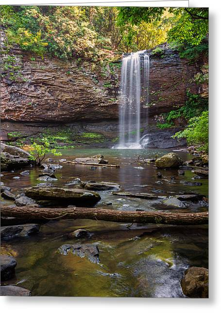 White River Scene Greeting Cards - Cherokee Falls - Cloudland State Park Georgia Greeting Card by Brian Harig