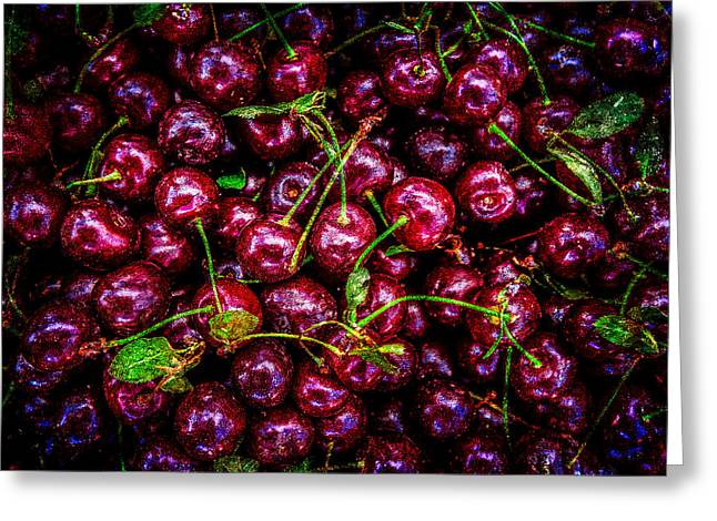 Healthy Greeting Cards - Cherries Greeting Card by Alexander Senin