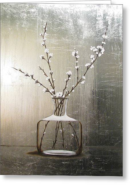 Cherry Blossoms Paintings Greeting Cards - Cherry Blossoms Greeting Card by Judy Merrell