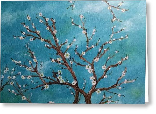 Cherry Blossoms Greeting Card by Sheryl Lee