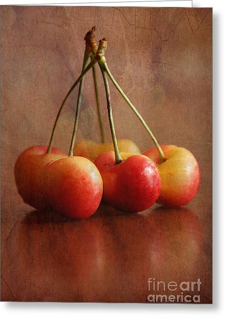 Fruit Tree Art Greeting Cards - Cherry Cherry Greeting Card by Rene Crystal