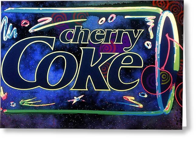 Johnkeaton Greeting Cards - Cherry Coke 2 Greeting Card by John Keaton