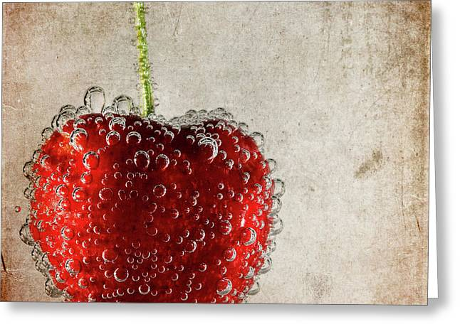 Fizz Greeting Cards - Cherry Fizz Greeting Card by Al  Mueller