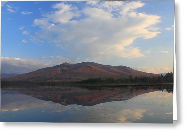 Wildlife Refuge. Greeting Cards - Cherry Mountain over Cherry Pond White Mountains Greeting Card by John Burk