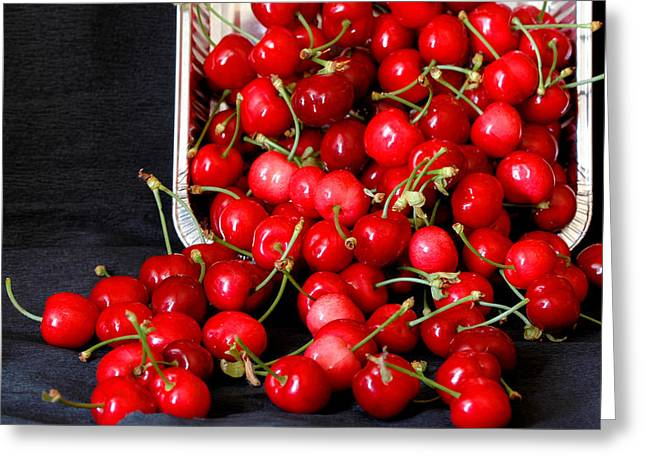 Healthy Greeting Cards - Cherry season Greeting Card by Guido Strambio