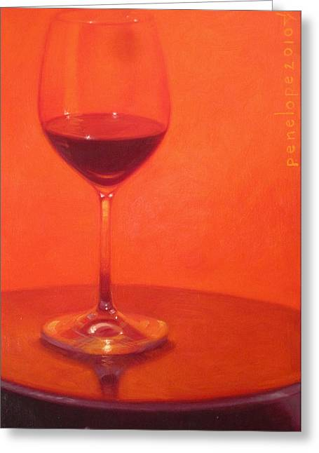 Merlot Greeting Cards - Cherry Spice Greeting Card by Penelope Moore
