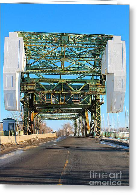 Don Cherry Greeting Cards - Cherry Street Lift Bridge Greeting Card by Nina Silver