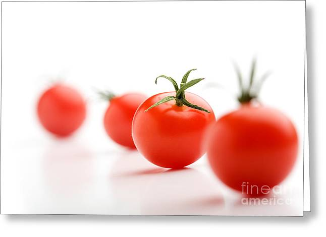 Cherry Tomatoes Greeting Card by Kati Molin