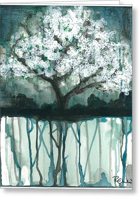 Cherry Blossoms Paintings Greeting Cards - Fruit Tree #1 Greeting Card by Rebecca Childs