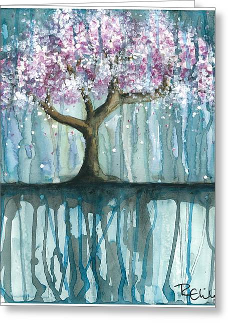 Cherry Blossoms Paintings Greeting Cards - Fruit Tree #2 Greeting Card by Rebecca Childs