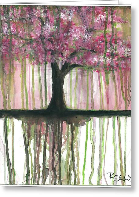 Cherry Blossoms Paintings Greeting Cards - Fruit Tree #3 Greeting Card by Rebecca Childs
