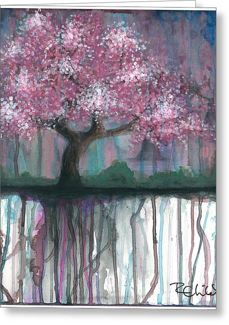 Cherry Blossoms Paintings Greeting Cards - Fruit Tree #4 Greeting Card by Rebecca Childs