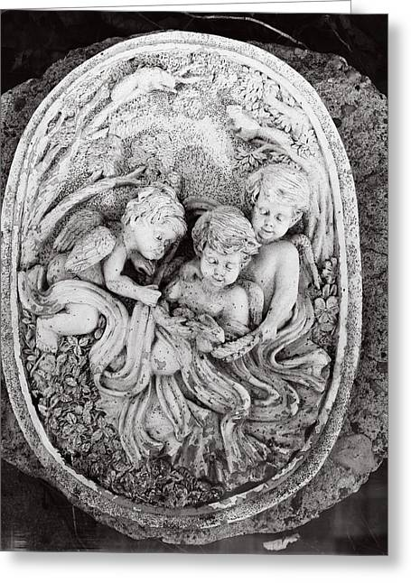 Reliefs Reliefs Greeting Cards - Cherub...winged Angel Greeting Card by Tom Druin