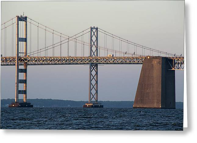 Chesapeake Bay Bridge - Maryland Greeting Card by Brendan Reals