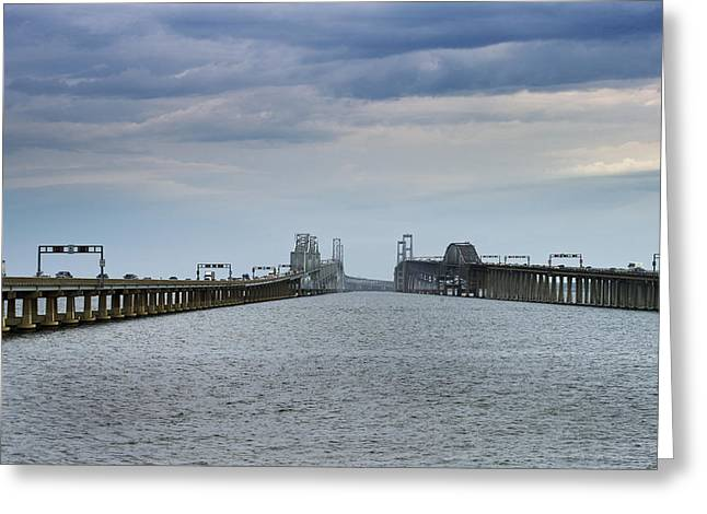 Chesapeake Bay Bridge Greeting Cards - Chesapeake Bay Bridge Maryland Greeting Card by Brendan Reals
