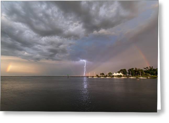 Chesapeake Bay Rainbow Lighting Greeting Card by Jennifer Casey