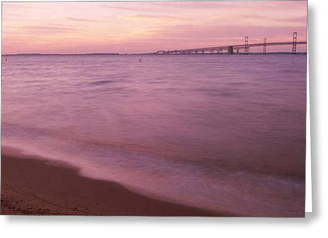 Connector Greeting Cards - Chesapeake Bay Wchesapeake Bay Bridge Greeting Card by Panoramic Images