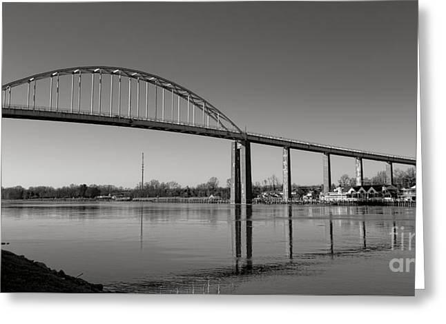 Chesapeake City Bridge Greeting Card by Olivier Le Queinec