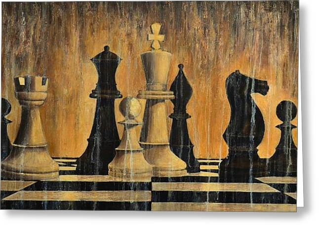 Chess Piece Paintings Greeting Cards - Chess Greeting Card by Dimitra Papageorgiou