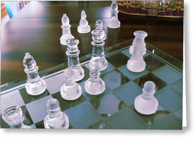 Checkmate Greeting Cards - Chess is Not for Sissies Greeting Card by Anne-Elizabeth Whiteway