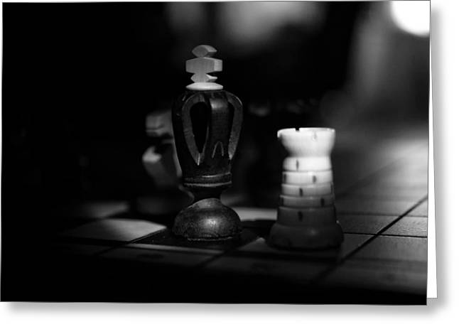 Chess Rook Greeting Cards - Chess Pieces Greeting Card by Skitter Photo