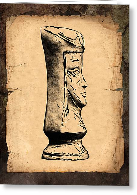 Illustration Greeting Cards - Chess Queen Greeting Card by Tom Mc Nemar