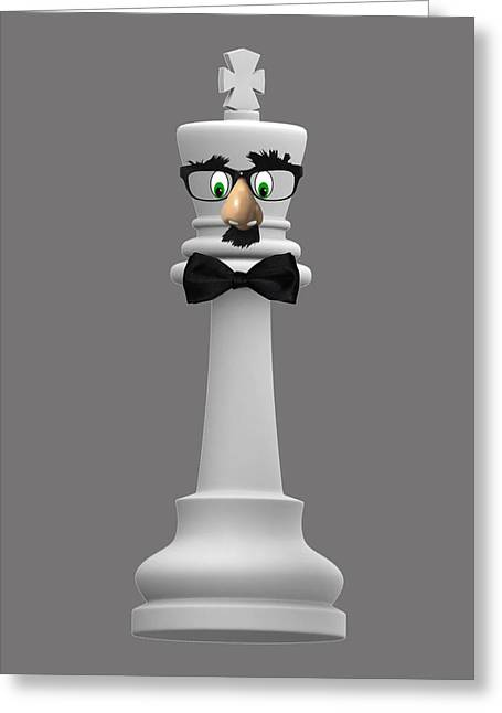 Groucho Marx Digital Art Greeting Cards - Chess The King Of Comedy Greeting Card by Anthony Murphy