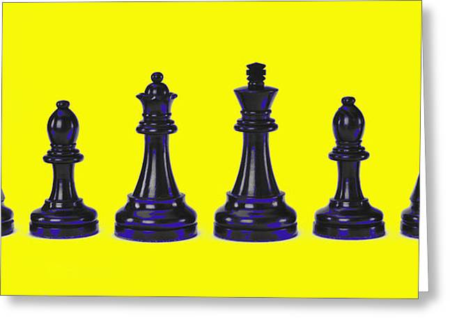 Chess Piece Digital Greeting Cards - Chessmen Greeting Card by Robert Ponzoni