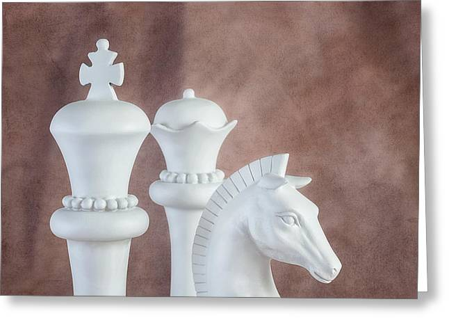 Checkmate Greeting Cards - Chessmen VI Greeting Card by Tom Mc Nemar
