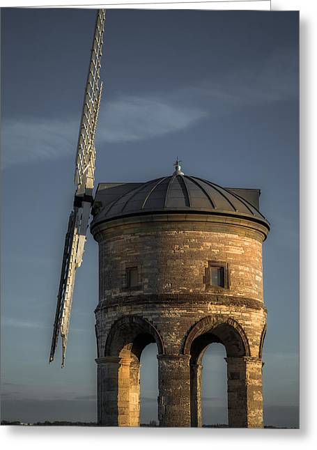 Warwickshire Greeting Cards - Chesterton windmill portrait Greeting Card by Chris Fletcher