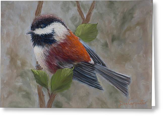 Original Photographs Greeting Cards - Chestnut Backed Chickadee Greeting Card by Dee Carpenter