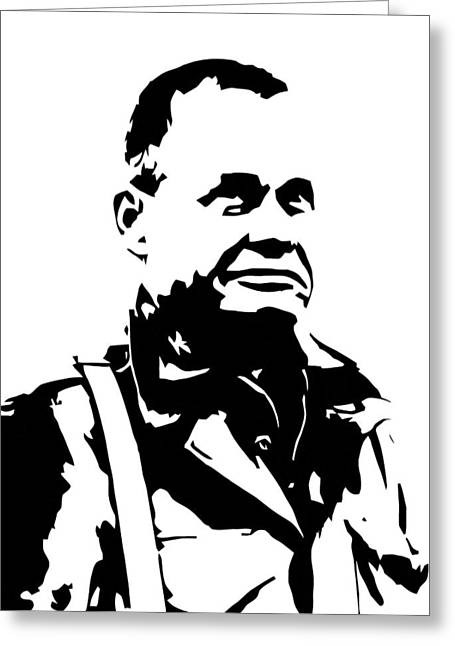 Products Greeting Cards - Chesty Puller Greeting Card by War Is Hell Store