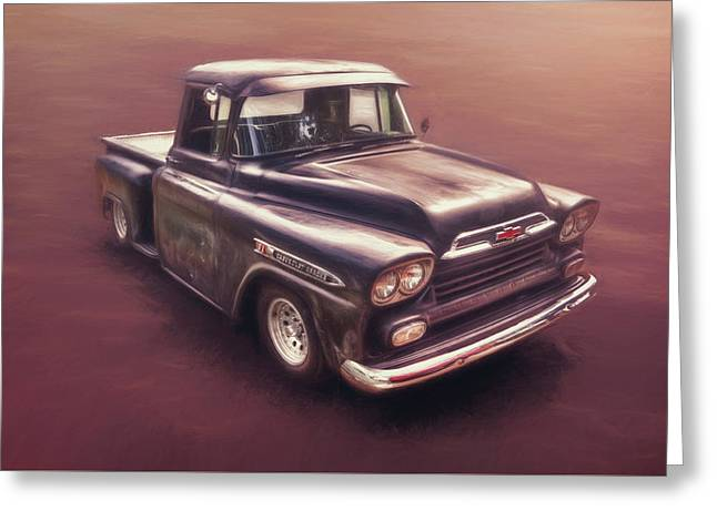 Chevrolet Apache Pickup Greeting Card by Scott Norris