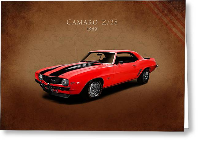 Muscle Greeting Cards - Chevrolet Camaro Z 28 Greeting Card by Mark Rogan