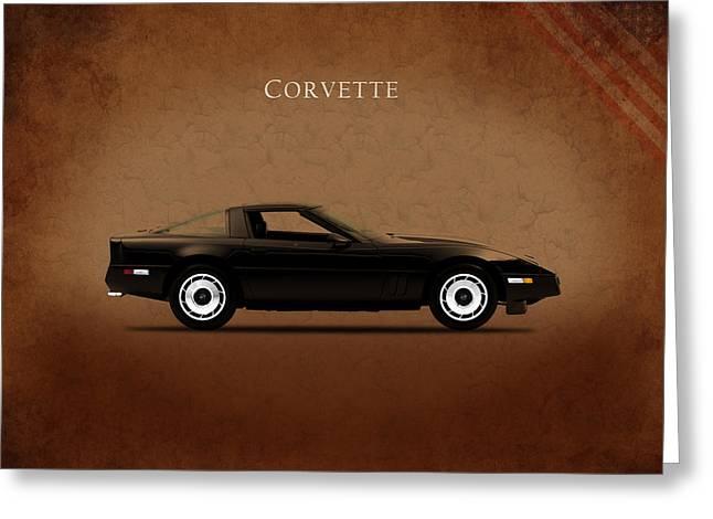 Chevrolet Corvette 1985 Greeting Card by Mark Rogan