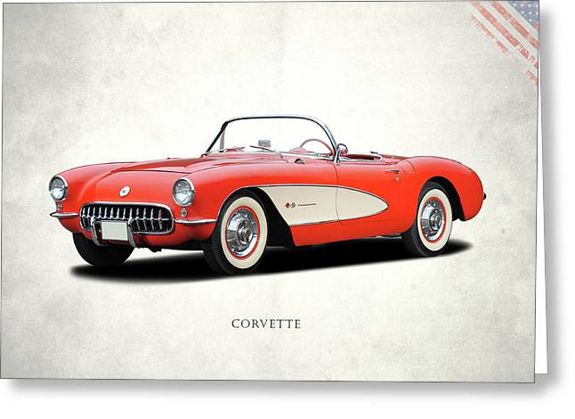 Red Chevrolet Greeting Cards - Chevrolet Corvette Greeting Card by Mark Rogan