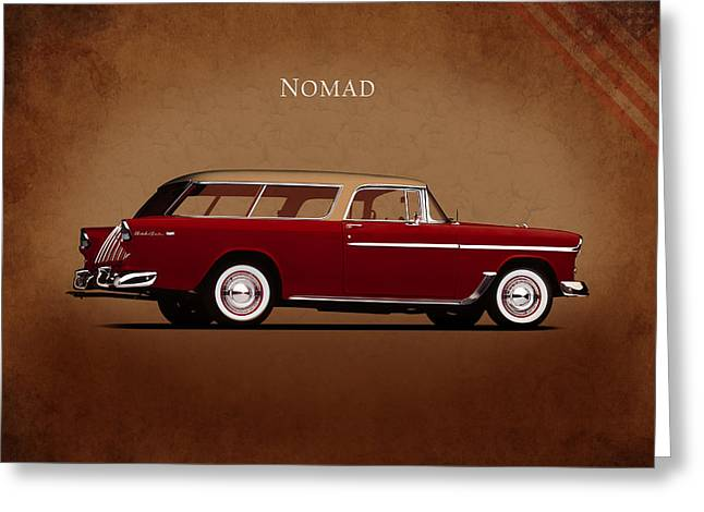 Nomads Greeting Cards - Chevrolet Nomad Greeting Card by Mark Rogan