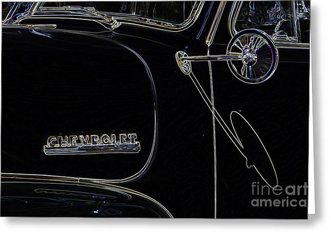 Color Enhanced Greeting Cards - Chevrolet Series No. 1 Greeting Card by Wendy Wilton