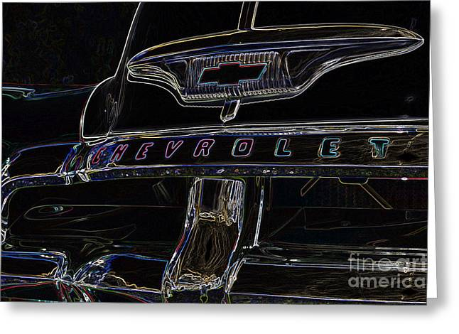 Color Enhanced Greeting Cards - Chevrolet Series No. 2 Greeting Card by Wendy Wilton