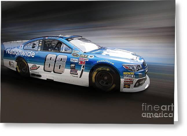Jr Motorsports Greeting Cards - Chevrolet SS NASCAR Greeting Card by Roger Lighterness
