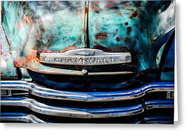 Chevrolet Truck Greeting Cards - Chevrolet Truck Grille Emblem -0839c1 Greeting Card by Jill Reger