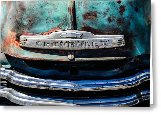 Chevrolet Truck Greeting Cards - Chevrolet Truck Grille Emblem -0839c2 Greeting Card by Jill Reger