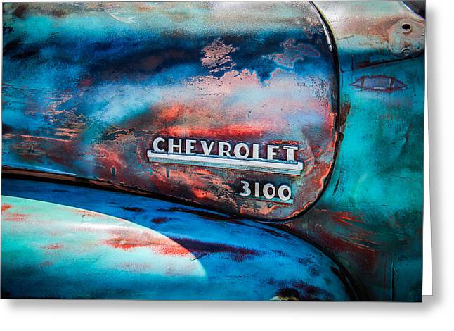Chevrolet Truck Side Emblem -0842c1 Greeting Card by Jill Reger