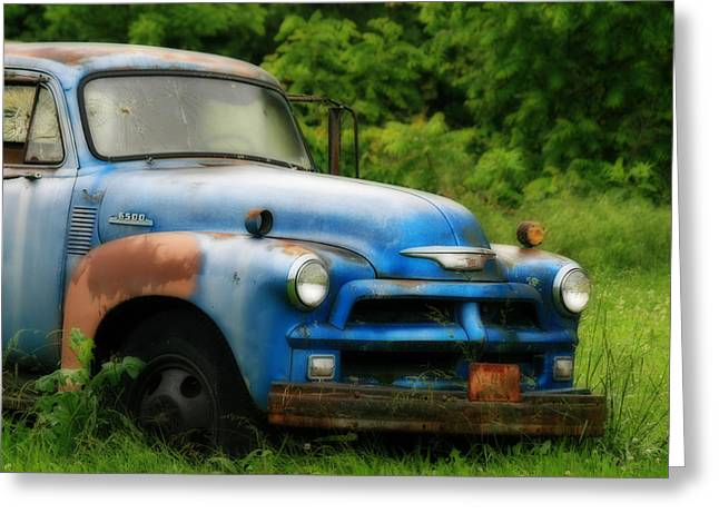 Photo Art Gallery Greeting Cards - Chevy 6500 Farm Truck Greeting Card by Corey Haynes